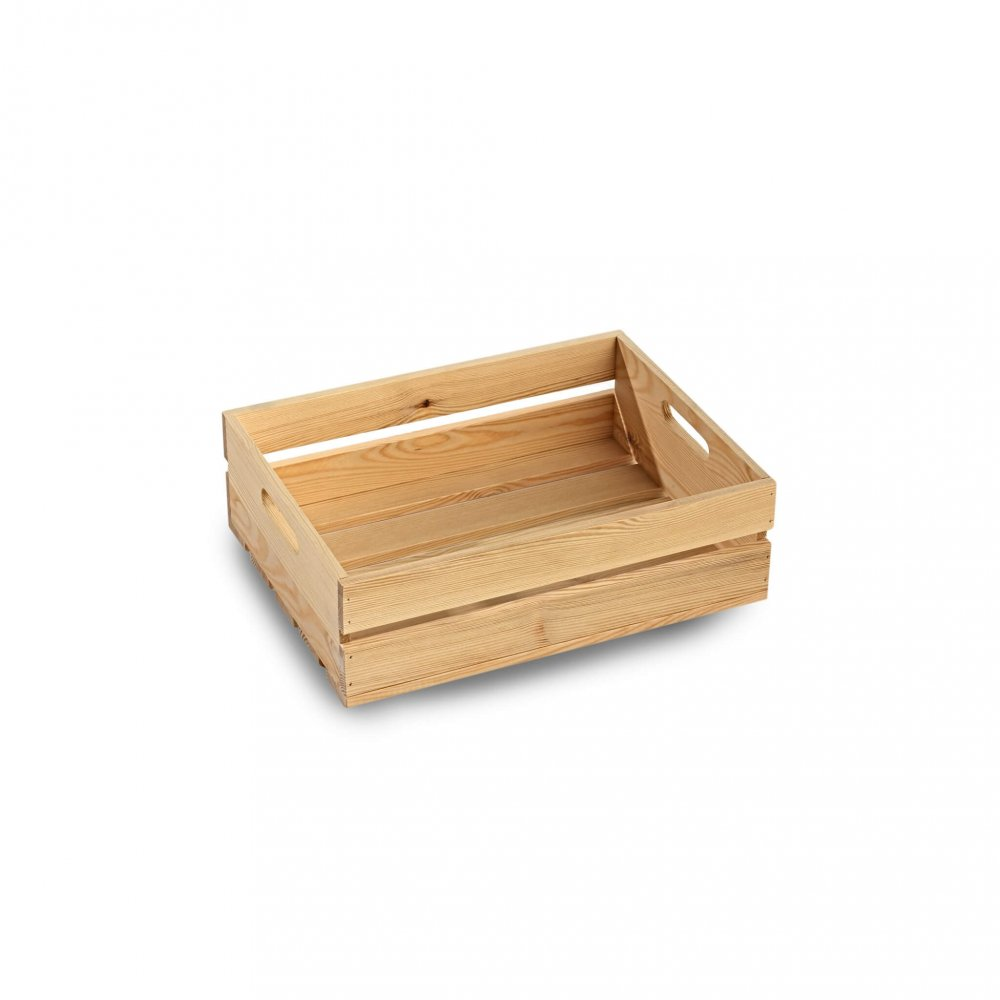 Small Wooden Crate Condiment Holders