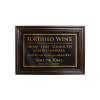 Mahogany Framed Bar Sign Fortified Wine 50ml or 70ml