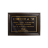 Mahogany Framed Bar Sign Fortified Wine 70ml