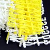 Pack of 692 White & Yellow Pegboard Letters & Numbers