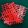 Pack of 282 Red 19mm Tall Pegboard Letters
