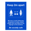 Social Distancing Outdoor Posters - A2 - Blue