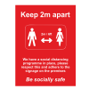 Social Distancing Outdoor Posters - A1 - Red