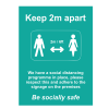 Social Distancing Outdoor Posters - A2 - Turquoise