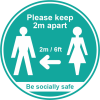Social Distancing Stickers - Pack of 2