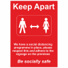 Social Distancing Outdoor Posters - A2 - Red