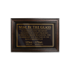 Mahogany Framed Bar Sign Wine by the Glass 125ml, 175ml