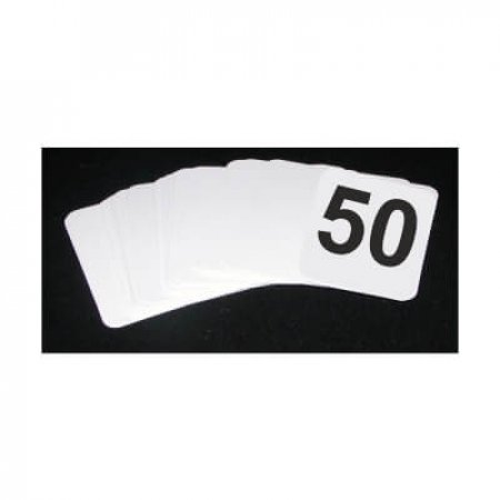 1-50 Table Numbers Cards