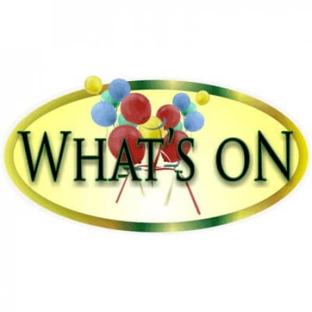 Large 'Whats On' Chalkboard Header