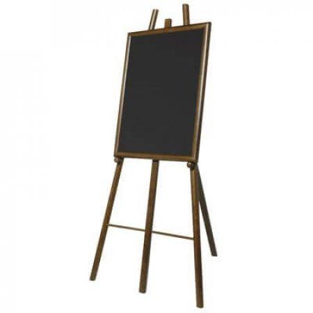 Dark Easel and Chalkboard