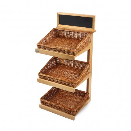 3 Tier Counter-Top Stand inc Chalkboard & Baskets