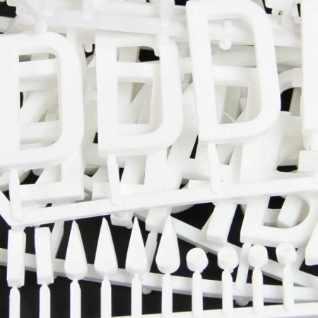 White 47mm Tall Pegboard Letters