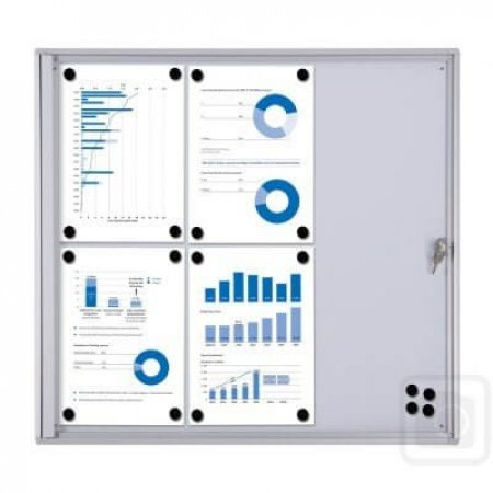 8 x A4 Indoor Lockable Cork Notice Board
