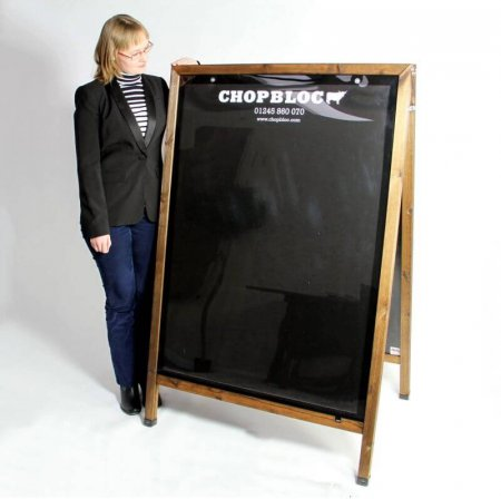 A0 Wooden Poster Holder A-board Personalised for Chopbloc
