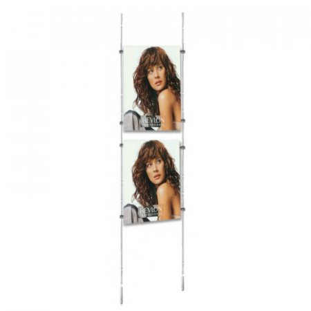 A3 Cable Display Kits - Portrait - Ceiling to Floor