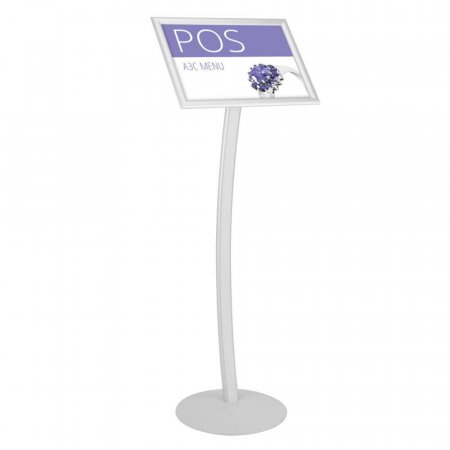 A3 Curved Poster Menu Information Stand