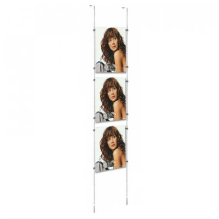 A4 Cable Display Kits - Portrait - Ceiling to Floor