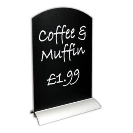 A4 chalkboard with aluminium base