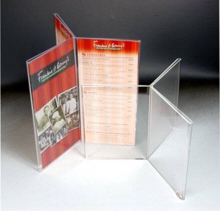 Six Sided Acrylic Menu Leaflet Holder