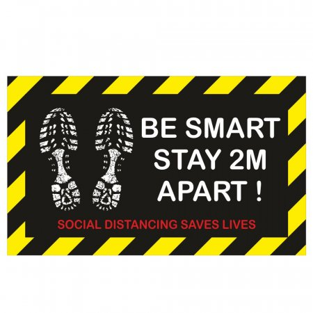 Be Smart Stay Apart Floor Stickers