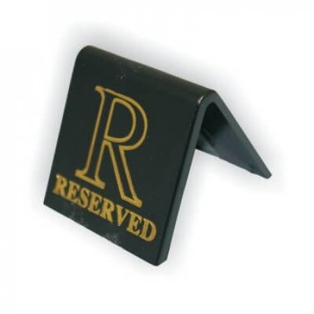 Black Reserved Table Signs Small