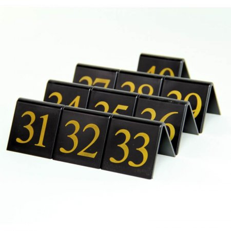 Black Table Numbers 31-40