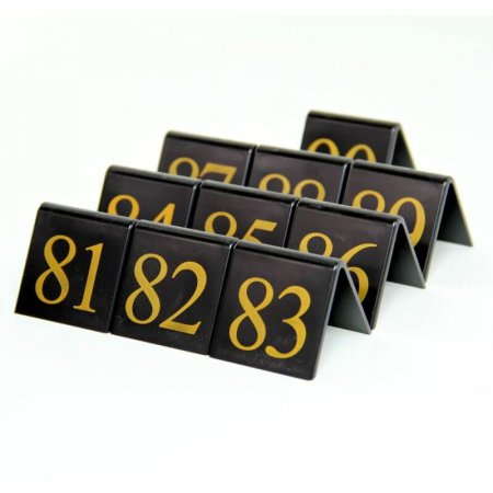 Black Table Numbers 81-90