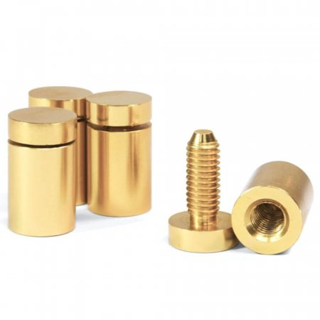 13mm  Polished Gold Stand Off Fixings