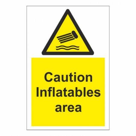 Caution Inflatables Area Sign