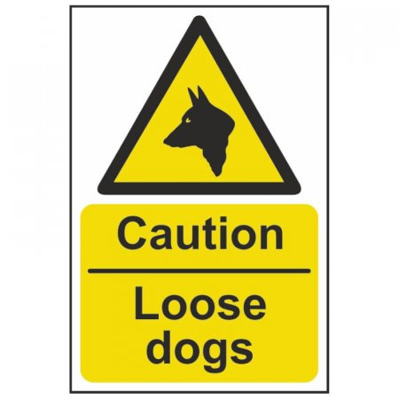 Caution Loose Dogs Warning Sign