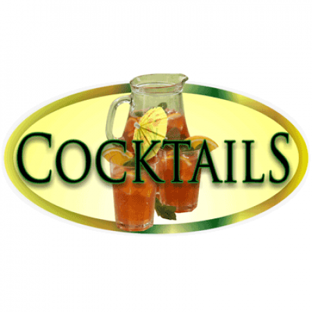 Large 'Cocktails' Chalkboard Header