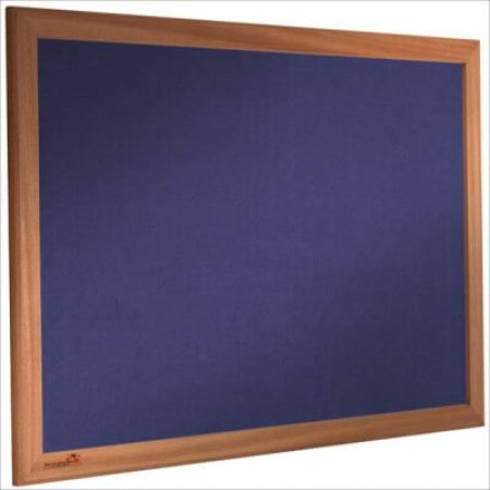 Oxford Blue Corded Hessian Noticeboard