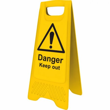 Yellow Danger Keep Out Sign