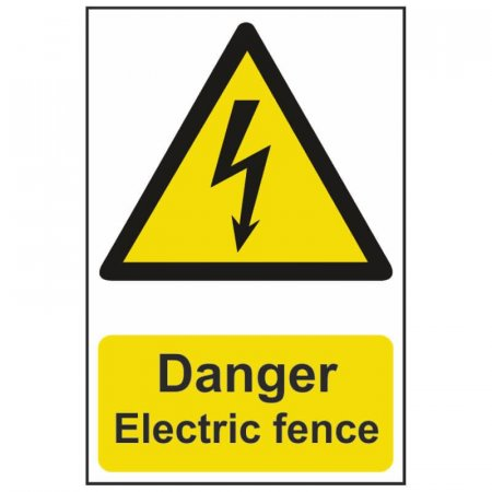 Electrical Electric Fence Warning Sign
