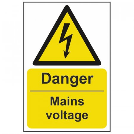 Danger Mains Voltage Warning Sign