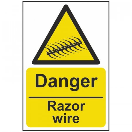 Danger Razor Wire Warning Sign