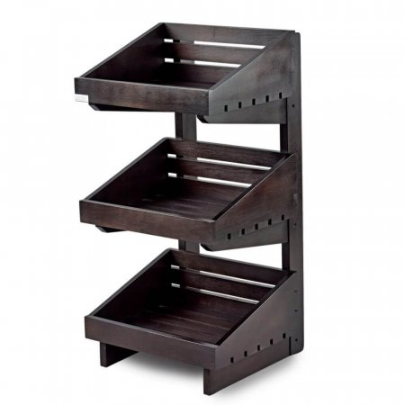 Dark 3 Tier Wooden Counter-Top Stand
