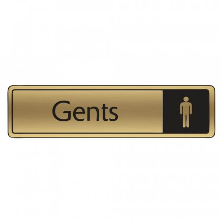 Brushed Gold Gents Signs