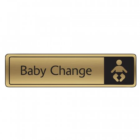 Brushed Gold Baby Change Signs