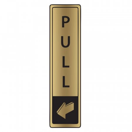 Brushed Gold Pull Signs