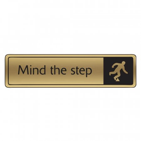 Brushed Gold  Mind the Step Signs
