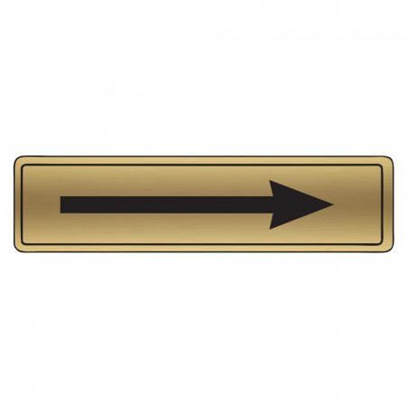 Brushed Gold Arrow Signs