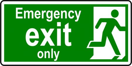 Emergency Exit Sign - Man & Emergency Exit