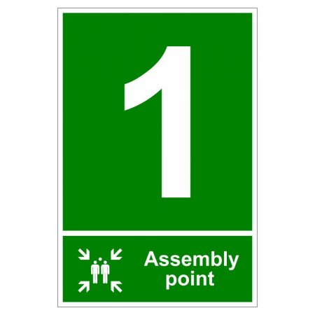 Fire Assembly Point Signs - Number 1