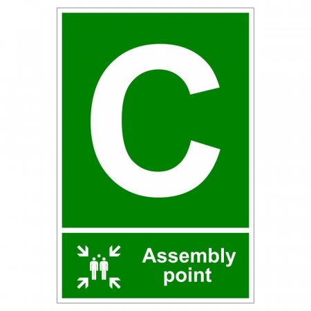 Fire Assembly Point Signs - Letter C