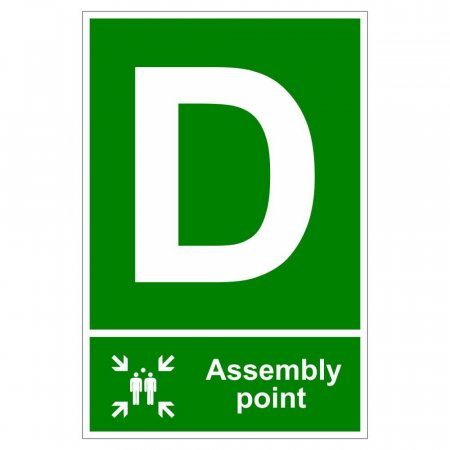 Fire Assembly Point Signs - Letter D