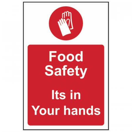 Food Safety Its in Your Hands Sign