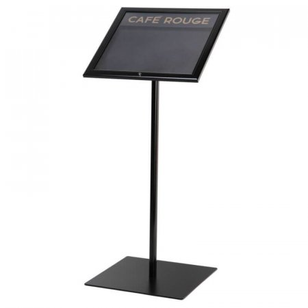 Free Standing Black Menu Case