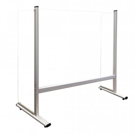 Desk & Counter Screen with Sides - Free-standing - Aluminium Frame