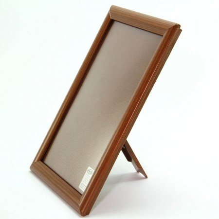 A4 Wood Effect Counter Stand Snap Frame